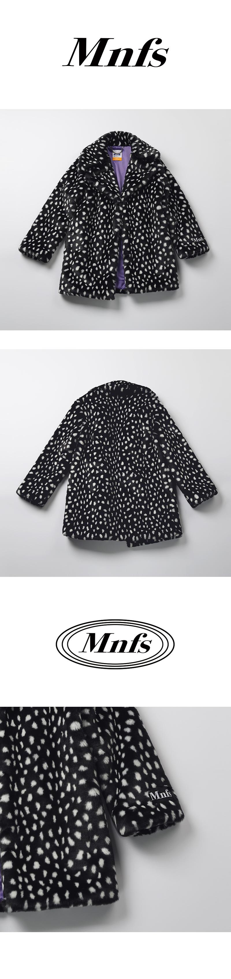 미뇽네프(MIGNONNEUF) 도트 하프 퍼 코트_furjacket coat