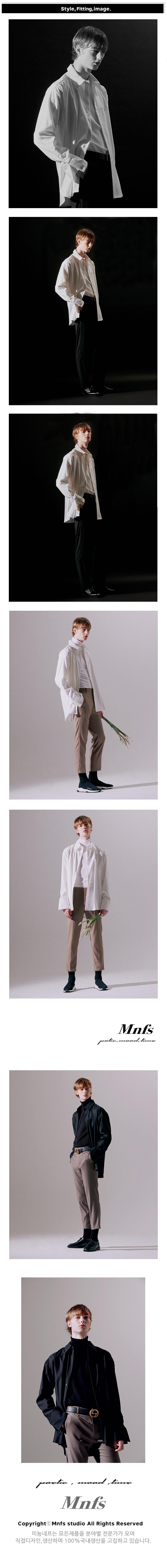 미뇽네프(MIGNONNEUF) MNFS 레이어드 오버핏 셔츠 자켓 블랙